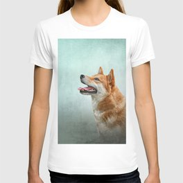 Drawing Japanese Shiba Inu dog 2 T-shirt