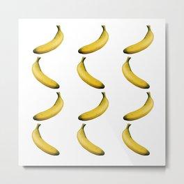 Bananas cropped on white background Metal Print