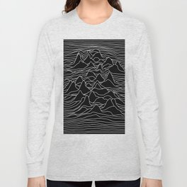 Black and white illustration - sound wave graphic Long Sleeve T-shirt