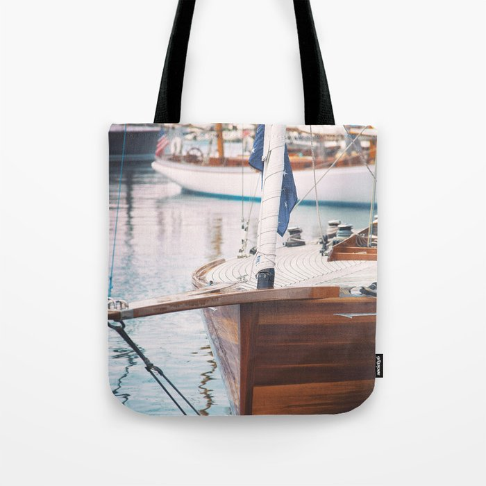 2a179c28bf0c Wood Sailing Boat Tote Bag by lisabonowicz