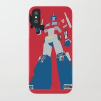 transformers iPhone & iPod Cases featuring Transformers G1 - Optimus Prime by TracingHorses