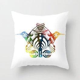 Bassnectar Family Crest (Color) Throw Pillow