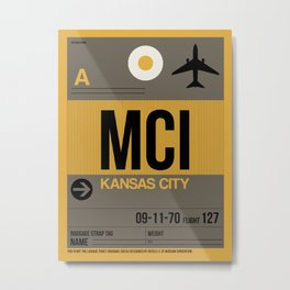 MCI Kansas City Luggage Tag 1 Metal Print