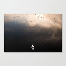 Swan, River Clyde Canvas Print