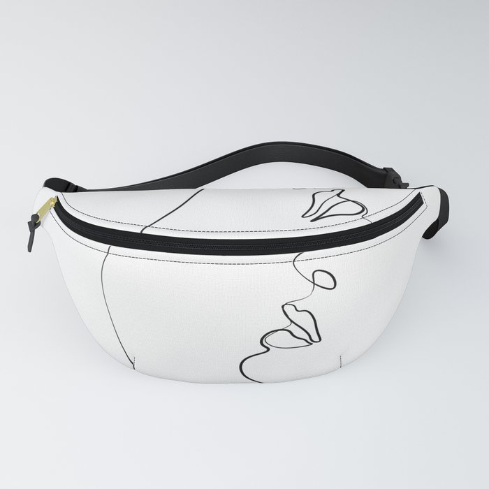 Lovers - Minimal Line Drawing Art Print4 Fanny Pack