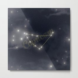 Capricorn Constellation - Zodiac Metal Print