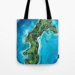 Water Island Map Tote Bag