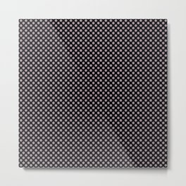 Black and Sea Fog Polka Dots Metal Print