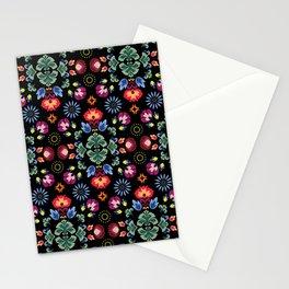 Fiesta Folk Black #society6 #folk Stationery Cards