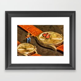 Playing For Time Framed Art Print