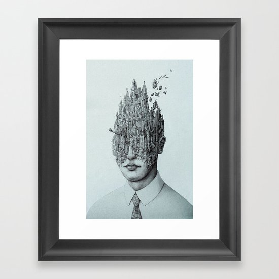 The Town of Thoughts Framed Art Print