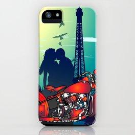 Romantic Kiss in Paris iPhone Case