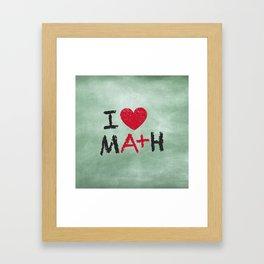 I Love Math Framed Art Print
