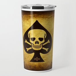 Death Card Ace Of Spades Travel Mug