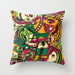 Horse -12 Animal Signs Throw Pillow