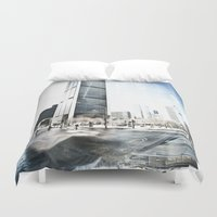 montreal Duvet Covers featuring Montreal Winter by Claudia Lalonde