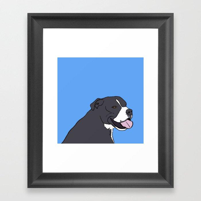 Cash The True Bluenose Pit Bull Framed Art Print