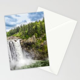 Snoqualmie Falls and Lodge in Summer Stationery Cards