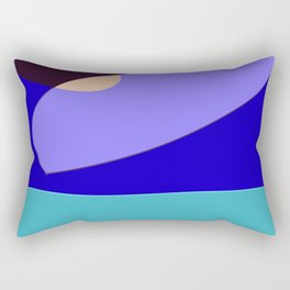 Minimal With Blue Rectangular Pillow