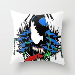 Ripped Venom  Throw Pillow