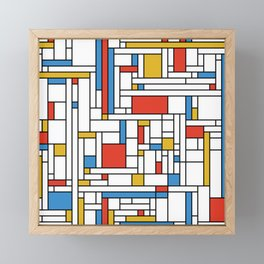 Mondrian meets Fibonacci Framed Mini Art Print