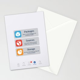 Cydia Manage Stationery Cards