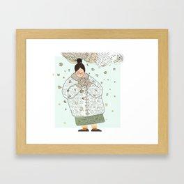 Dressed in words Framed Art Print