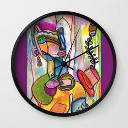 Fem Bear's Night Out Wall Clock