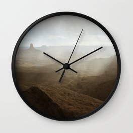 Storm in Canyonlands National Park Wall Clock