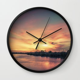 Sunset River - Sacramento River Wall Clock