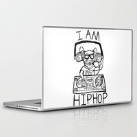 hiphop Laptop & iPad Skins featuring I AM HIPHOP  by Geryes