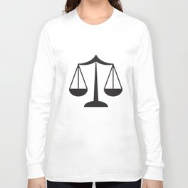 Law Scale Of Justice Women's Lawyer Office Occupation Career Law T-Shirts Long Sleeve T-shirt