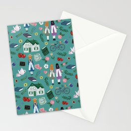 Literary Home Stationery Cards