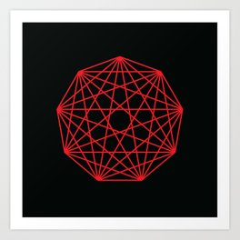 Interconnected Nonagon Shape Art Print