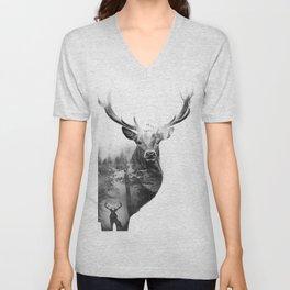 Deer in the woods Unisex V-Neck