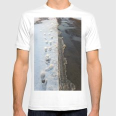 winter is gone? MEDIUM White Mens Fitted Tee