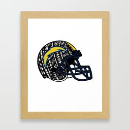 Poly Tribal Chargers Framed Art Print
