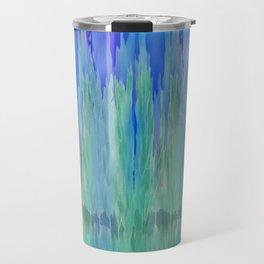 Shadows and Reflections in Shades of Blue and Green Travel Mug