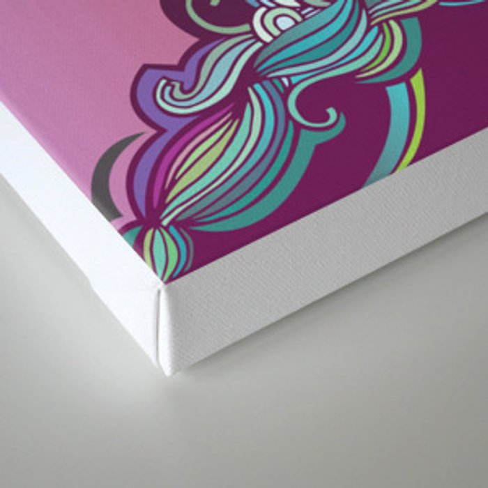Detailed diagonal tangle, pink and purple Canvas Print