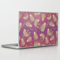 sloths Laptop & iPad Skins featuring Happy Little Sloths by ponychops