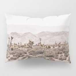 Sierra Nevada Mojave // Desert Landscape Blush Cactus Mountain Range Las Vegas Photography Pillow Sham