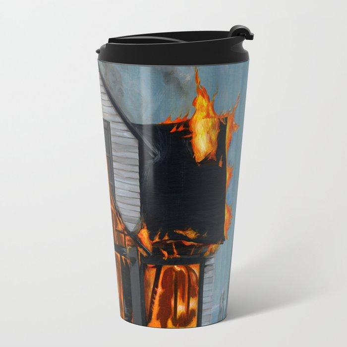 House on Fire Travel Mug