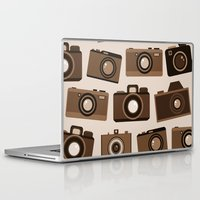 cameras Laptop & iPad Skins featuring cameras (white) by vitamin