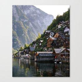 Lakeside village Halstatt, Austria Canvas Print