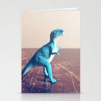 dinosaur Stationery Cards featuring Dinosaur  by They Come Along