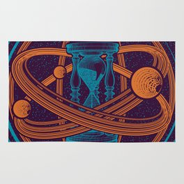 Time Infinity Planet System With Cosmos Sandglass Rug