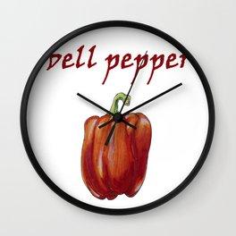 bell pepper Wall Clock