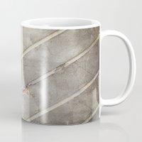 concrete Mugs featuring Concrete Chevron by INDUR