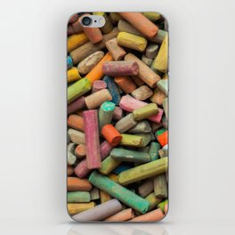 colored pastel chalks iPhone Skin