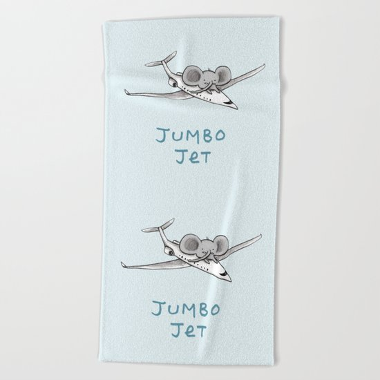 Jumbo Jet Beach Towel